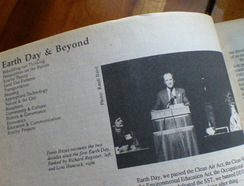 1. Denis Hayes at Ecocity 1, 1990